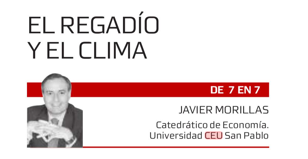 El regadío y el clima de Javier Morillas