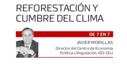 Reforestación y cumbre del clima de Javier Morillas