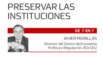 Preservar las Instituciones de Javier Morillas