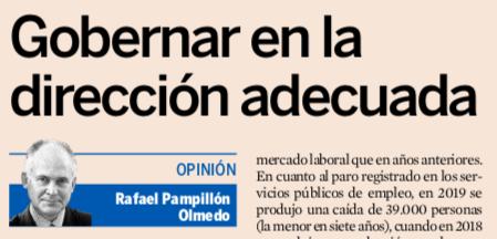 Gobernar en la dirección adecuada de Rafael Pampillón Olmedo