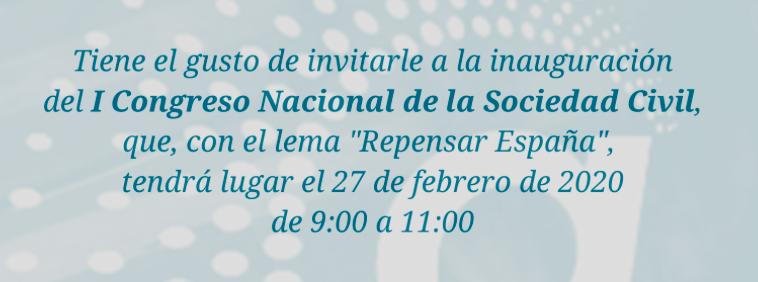Inauguración del I Congreso Nacional de la Sociedad Civil