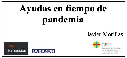Ayudas en tiempos de pandemia, por Javier Morillas