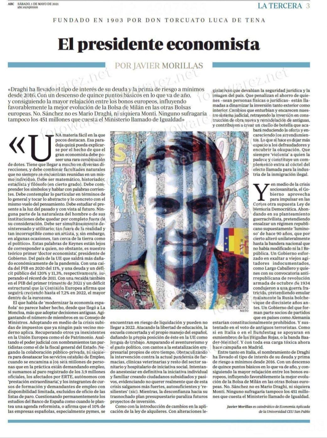 El presidente economista, por Javier Morillas