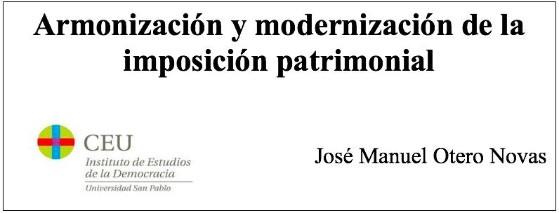 Informe de José Manuel Otero Novas para la Comunidad de Madrid